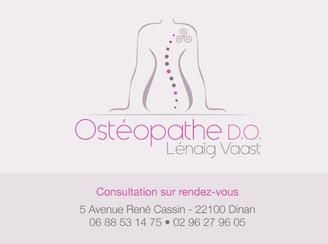 Carte de visite Ostéopathe Dinan - VAAST Lénaïg